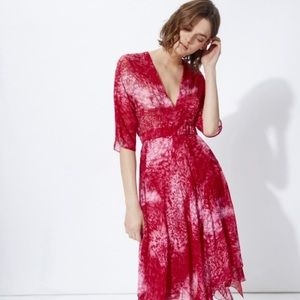 Maje Pink Silk Flowing Dress NWT $660